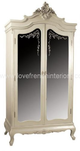 Rosemary Mirrored French Armoire